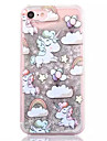 Coque Pour Apple iPhone 7 iPhone 7 Plus iPhone 6 Liquide Motif Coque Arriere Licorne Dur Polycarbonate pour iPhone 7 Plus iPhone 7 iPhone