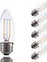 E26/E27 Ampoules a Filament LED B 2 COB 200 lm Blanc Chaud 2700 K Intensite Reglable V