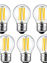 5W E26/E27 LED Filament Bulbs G45 6 COB 550lm Warm White 2700K Decorative AC 220-240V