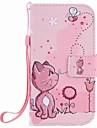 Para samsung galaxy s7 edge s7 gatos e abelhas pintura pu caixa de telefone samsung s5 s4 s3