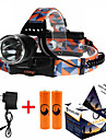 ZQ-X8000 Headlamp Straps LED 3000ML lm 3 Mode Cree XM-L T6 Adjustable Focus Rechargeable Compact Size High Power Dimmable Easy Carrying