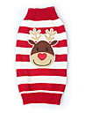 Cat Dog Sweater Dog Clothes Cute Christmas Reindeer Black Red Green Blue Costume For Pets