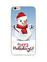 용 아이폰7케이스 / 아이폰6케이스 / 아이폰5케이스 패턴 케이스 뒷면 커버 케이스 크리스마스 소프트 TPU Apple아이폰 7 플러스 / 아이폰 (7) / iPhone 6s Plus/6 Plus / iPhone 6s/6 / iPhone