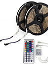 10M(2*5M) 3528 600LEDs Waterproof RGB 44Keys IR Remote Controller Flexible LED Light Strips