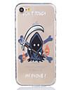 Pour Coque iPhone 7 Coque iPhone 6 Coque iPhone 5 Transparente Motif Coque Coque Arriere Coque Dessin Anime Flexible PUT pour AppleiPhone