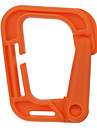 FURA Outdoor High-Strength Nylon Carabiners for Backpacks - Black / Orange / Green / Khaki(1 PCS)