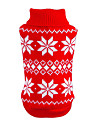 Cat Dog Sweater Christmas Dog Clothes New Year\'s Snowflake Red Blue Costume For Pets