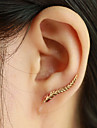 Women\'s Stud Earrings Ear Cuffs Fashion Elegant Costume Jewelry Leaf Wings / Feather Jewelry For Daily Casual