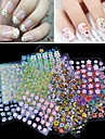 30pcs Sticker Manucure  Autocollants 3D pour ongles Maquillage cosmetique Manucure Design