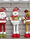 Santa Claus Snowman Christmas Dolls Christmas Decorations for Home Retractable Standing Toy Birthday Party Gift Kids Natal