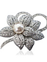 Women\'s Brooches - Flower Fashion Brooch Silver / Golden For Party / Daily / Casual