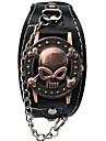 Men\'s Fashion Watch Wrist watch Bracelet Watch Quartz Hollow Engraving Punk Alloy Band Vintage Cartoon Skull Charm Bangle Cool Casual