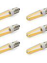 6pcs 480lm E14 LED Bi-pin Lights T 4 LED Beads COB Warm White Cold White 85-265V 220-240V