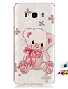 For Samsung Galaxy J7 J5(2016) G530 G360 Cover Case Bear Pattern Painting IMD Technology Tpu Material Phone Shell And Dust Plug Combination