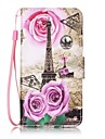 For Card Holder Wallet with Stand Pattern Case Full Body Case Eiffel Tower Hard PU Leather for Samsung S7 edge  S7  S6 edge plus S6 edge S6 S5 S4 S3