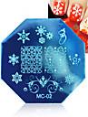 1pcs Božić nail art otiskivanje predložak slika pločice s pečatom