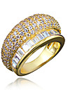 Women\'s Ring AAA Cubic Zirconia Gold Plated 18K gold Jewelry Wedding Party Daily Casual