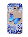 Case For Samsung Galaxy Pattern Back Cover Butterfly Soft TPU for Note 5 Note 4 Note 3