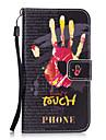 Для Чехлы панели Кошелек Бумажник для карт со стендом Задняя крышка Кейс для Слова / выражения Твердый Искусственная кожа для SamsungS8