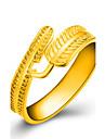 בגדי ריקוד נשים טבעת לעטוף טבעת ציפוי זהב Leaf Shape נשים Fashion Ring תכשיטים מוזהב עבור חתונה Party יומי קזו\'אל מידה אחת One Size