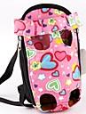 Gato Cachorro Tranportadoras e Malas frente Backpack Animais de Estimacao Transportadores Portatil Fofo Amor Rosa claro