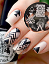 BORN PRETTY BP77 Nail Art Image Stamping Plates Geometry Negative Space Design