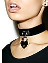 Жен. Кожа Ожерелья-бархатки Ожерелья с подвесками Заявление ожерелья  -  Любовь Массивный Мода Круглый Черный Коричневый Красный Ожерелье