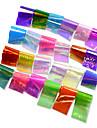 24pcs/set Наклейки и ленты / Наклейка для фольги / Наклейка для ногтей Роскошное сияние / Зеркальный эффект / Наклейки для ногтей Дизайн ногтей