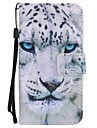 For Motorola MOTO G4 Play G4 Case Cover White Leopard Painted Lanyard PU Phone Case