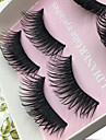 Eyelashes lash Eye Lifted lashes Volumized 0.1mm Full Strip Lashes Thick Fiber Black Band