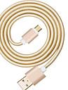 USB 2.0 Braided Cable For Huawei Sony LG Lenovo Xiaomi 100 cm Nylon