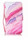 Sand Waves Painting PU Phone Case for apple iTouch 5 6 iPod Cases/Covers