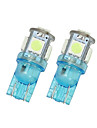 2X Iceblue T10 5SMD 5050 LED Car Dome License Map Light W5W 158 192 194 168