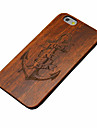 iPhone 7 Plus Wood Anchor Sailor Captain Carving Concavo Convex Hard Back Cover for iPhone 6s 6 Plus
