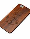 Для Кейс для iPhone 6 Кейс для iPhone 6 Plus Чехлы панели Рельефный Задняя крышка Кейс для Имитация дерева Твердый Дерево дляiPhone 7