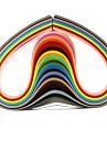 120PCS 1CMx53CM Quilling Paper(24 Color x5 PCS/Color) DIY Craft Art Decoration