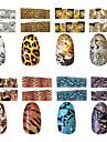 10 Autocollant d'art de clou Autocollants 3D pour ongles Abstrait Maquillage cosmétique Nail Art Design