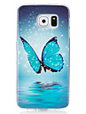Case For Samsung Galaxy S7 edge S7 Glow in the Dark IMD Pattern Back Cover Butterfly Soft TPU for S7 edge S7 S6 edge S6 S5