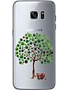 Pour Ultrafine Transparente Motif Coque Coque Arriere Coque Arbre Flexible PUT pour Samsung S7 edge S7 S6 edge plus S6 edge S6