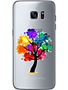 Для Ультратонкий Прозрачный С узором Кейс для Задняя крышка Кейс для дерево Мягкий TPU для Samsung S7 edge S7 S6 edge plus S6 edge S6