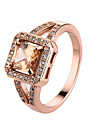 Femme Bague Zircon cubique Style Simple Mode Or rose Zircon Alliage Bijoux Decontracte