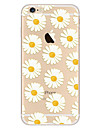 Capinha Para Apple iPhone 8 iPhone 8 Plus iPhone 6 iPhone 7 Plus iPhone 7 Ultra-Fina Estampada Capa traseira Flor Macia TPU para iPhone 8