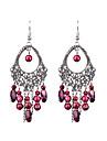 boucles d\'oreilles perles ovales faites a la main longues retro style feminin classique
