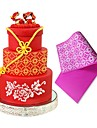 Retro Drawing Silicone Lace Mat Fondant Sugarcraft Mold For Wedding Cake Decorating DIY Baking Moulds LFM-41