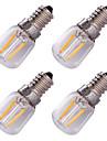 youoklight 4pcs e14 2w는 필라멘트 전구를지도했다 온난 한 백색 3000k 150-200lm - 투명한은 (AC 220v)