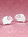Stud Earrings Cute Style Silver Plated Silver Sheep Animal Jewelry Party Daily Casual Costume Jewelry