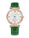 SINOBI Женские Модные часы Имитационная Четырехугольник Часы Защита от влаги Кварцевый Кожа Группа Зеленый