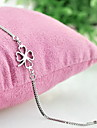 Chain Bracelet Fashion Costume Jewelry Silver Plated Flower Four Leaf Clover Jewelry For Gift