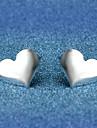스터드 귀걸이 보석류 러브 은 도금 합금 Heart Shape 보석류 제품 결혼식 파티 일상 캐쥬얼