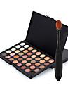 40 Color Eyeshadow Palette Dry Eyeshadow palette Pressed powder Normal Daily Makeup Brush